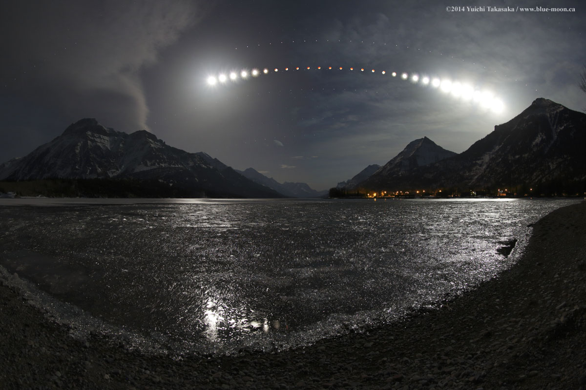 Eclipse au lac Waterton