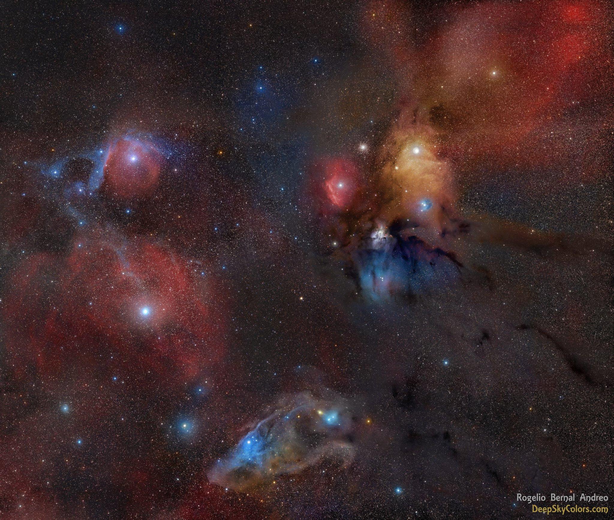 Les parages de Rho Ophiuchi