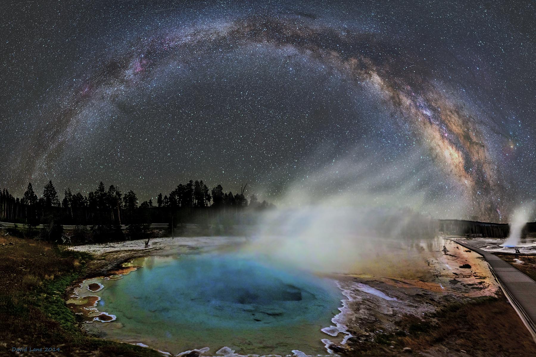 La Voie lactée sur Yellowstone