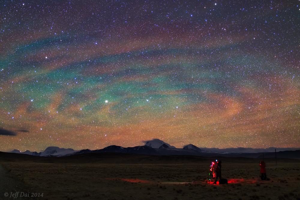 Ondes de gravité luminescentes sur le Tibet
