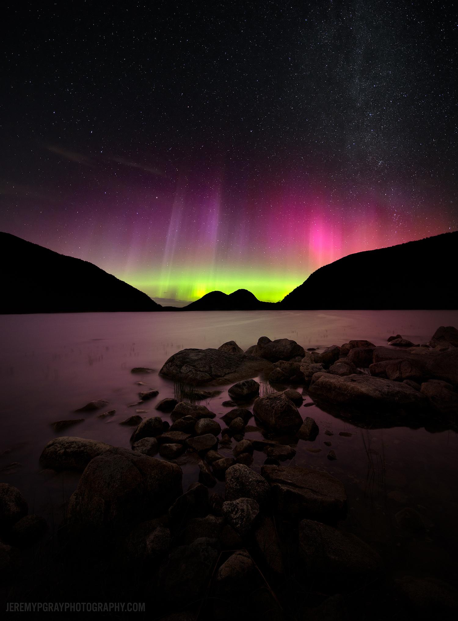 Aurores polaires sur le Maine