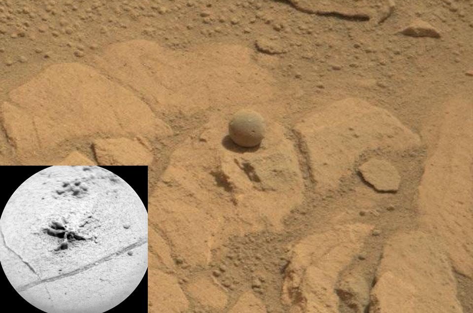 Etonnantes roches martiennes