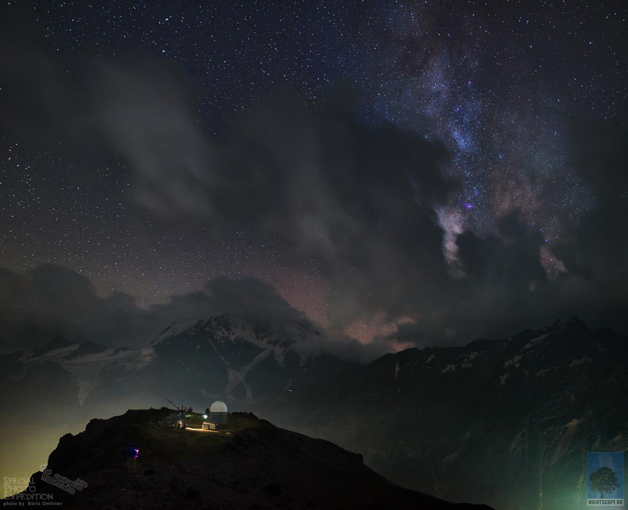 Observatoire, montagnes et Univers