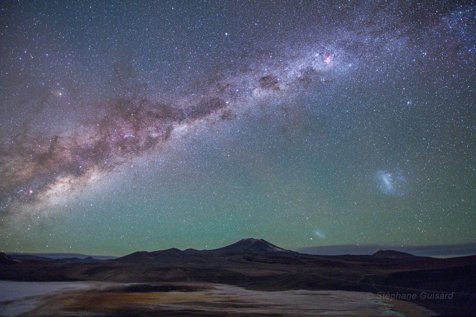 Galaxies sur l\'Altiplano chilien