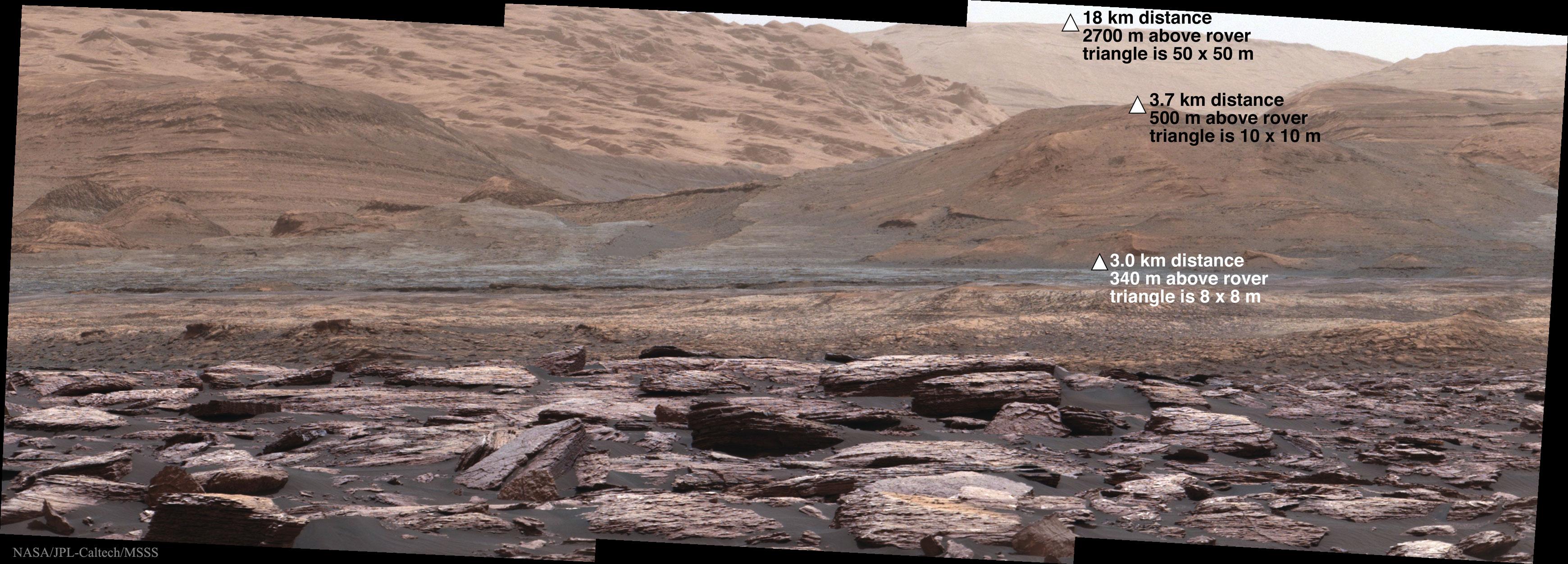 Curiosity étudie le sol au pied du Mont Sharp sur Mars