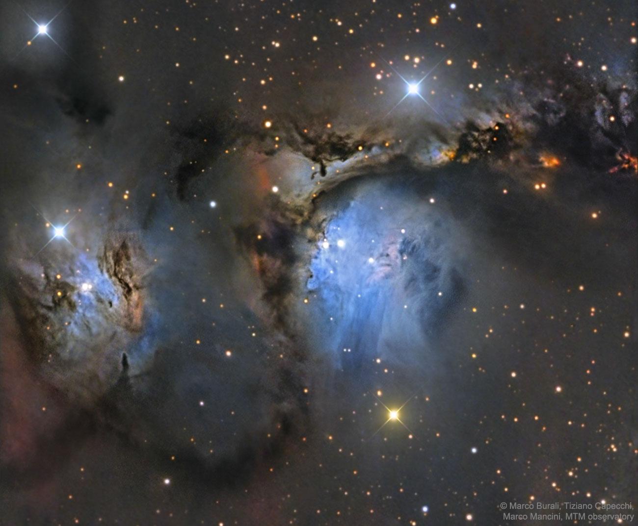 M78 et autres nébuleuses par réflexion dans Orion