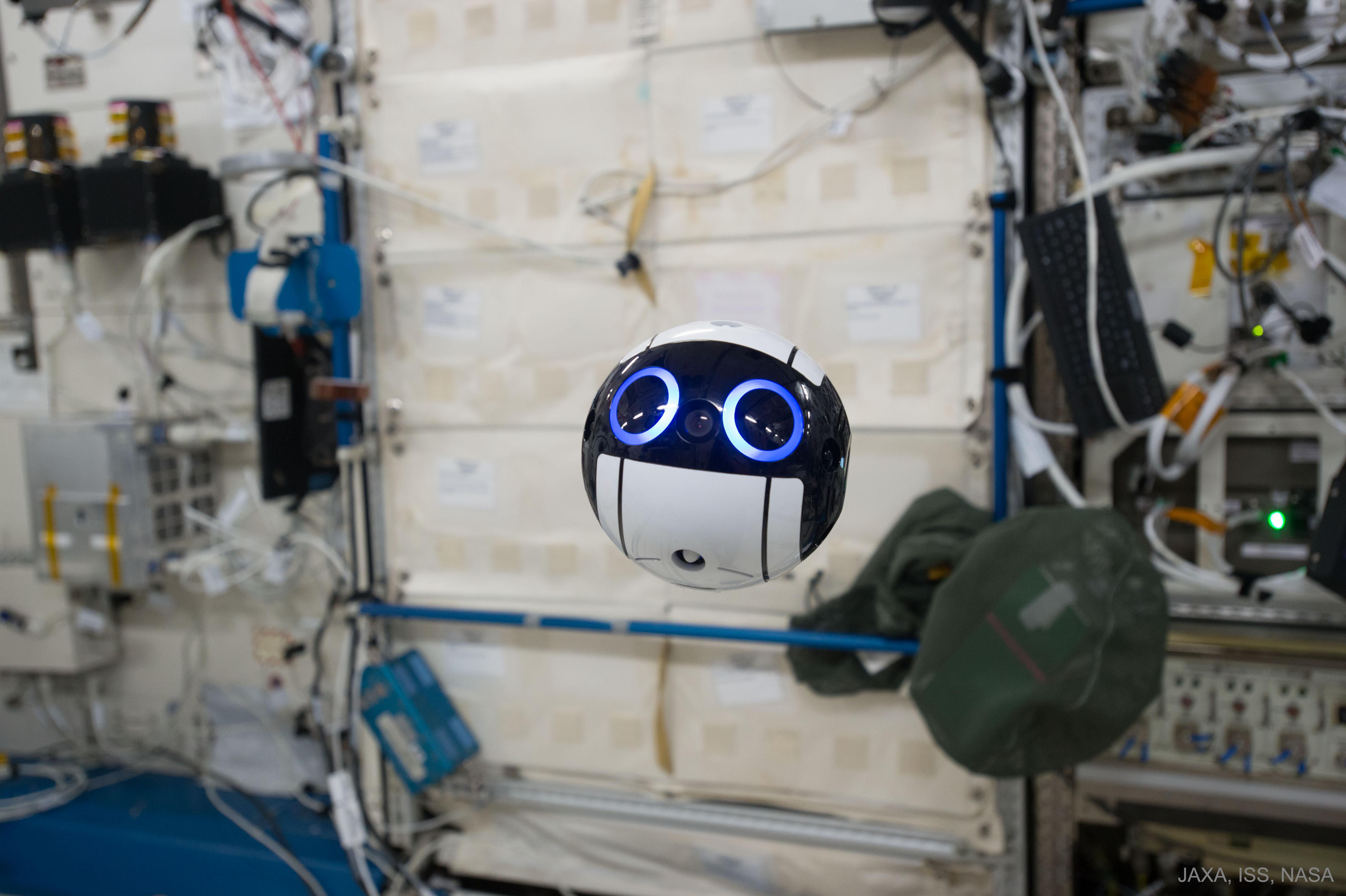 Le drone Int-Ball à bord de la Station spatiale internationale