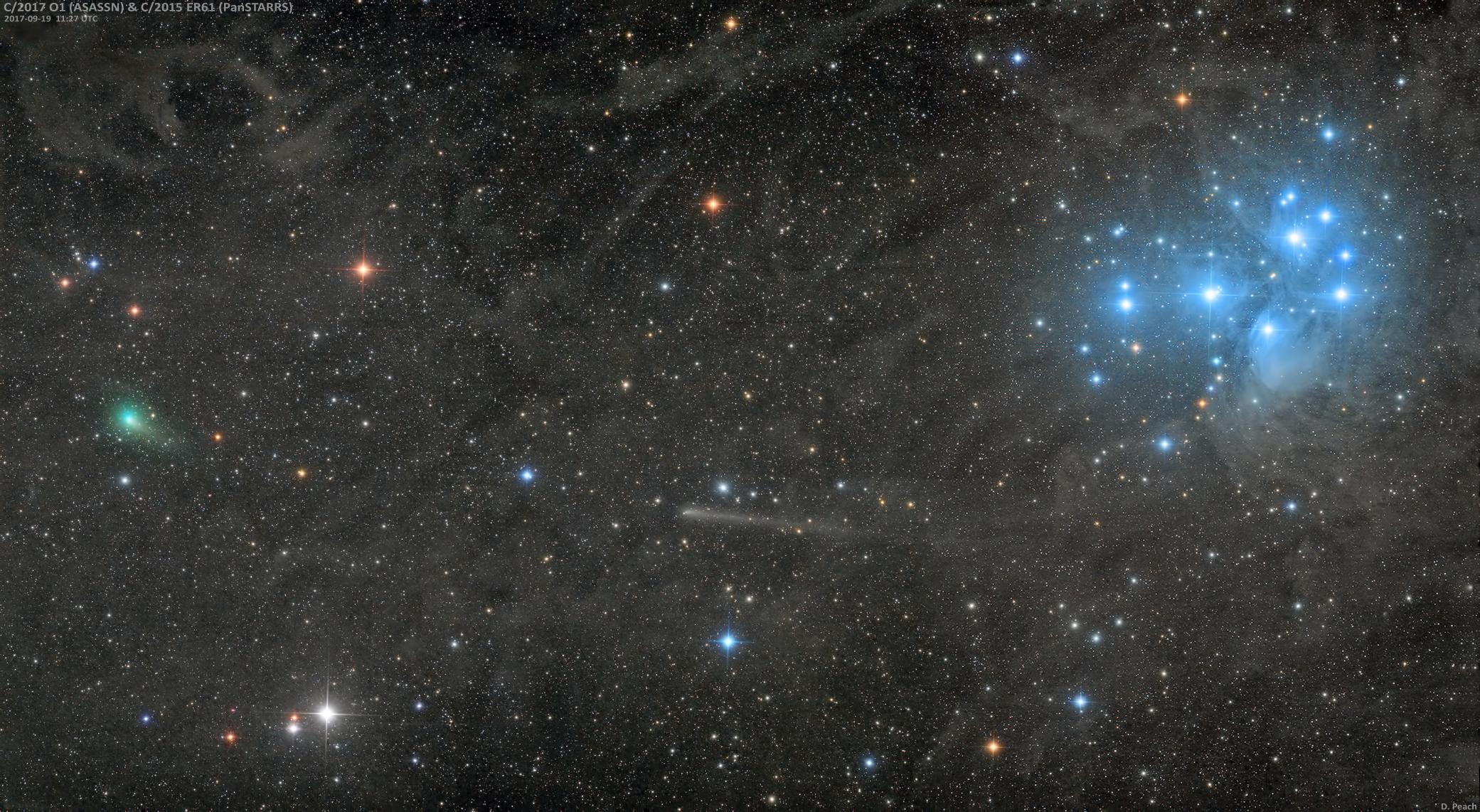 Deux comètes visibles aux jumelles