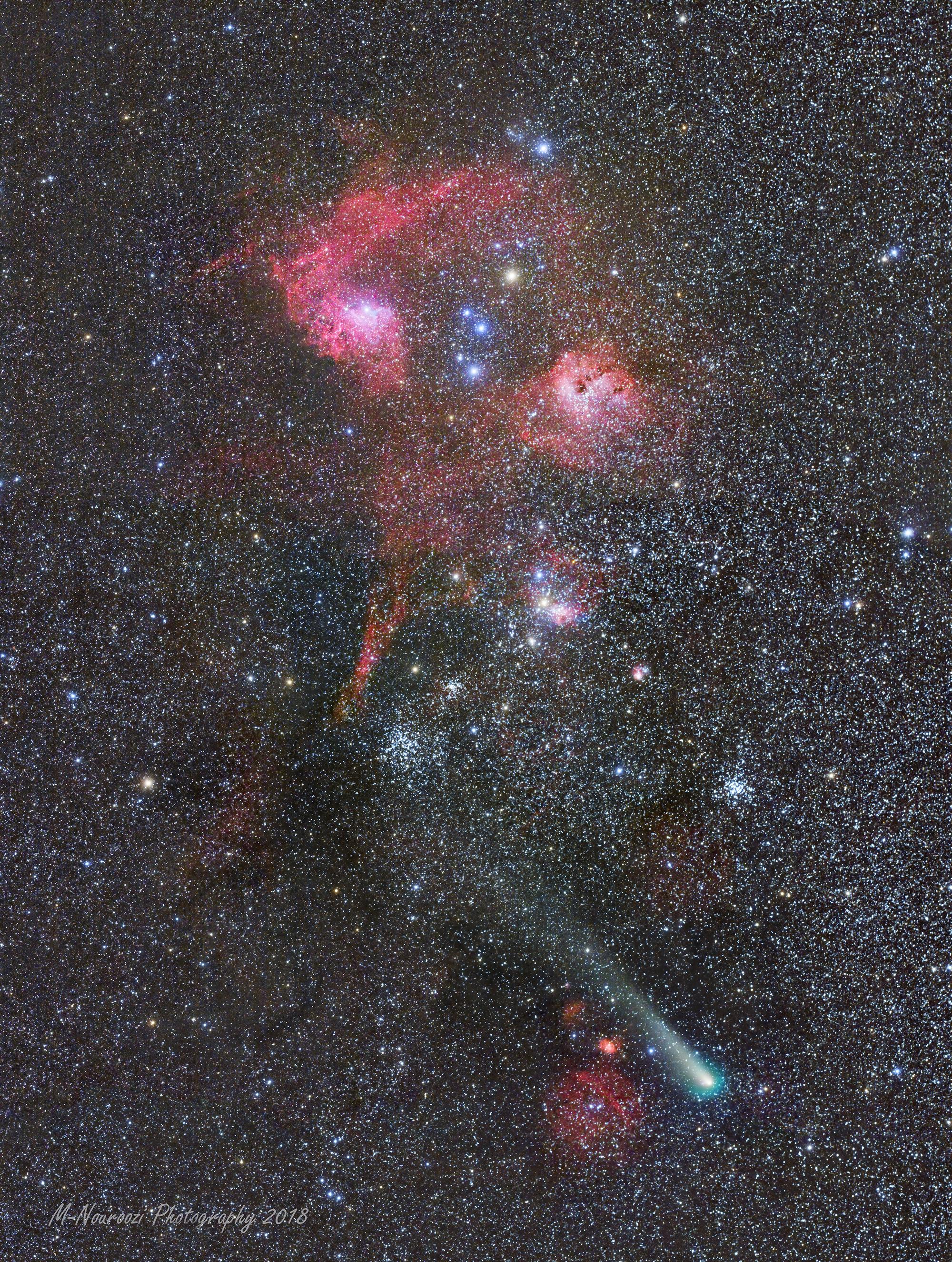 Comète, amas et nébuleuses