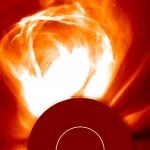 Orage solaire : une éruption coronale