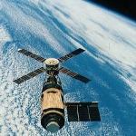 Skylab au dessus de la Terre -