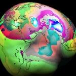 Une carte de la gravité terrestre