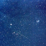 Un champ d'étoiles des Léonides