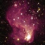 La région de formation d'étoiles Hubble-V