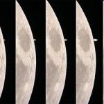 Saturne sur le limbe lunaire