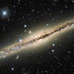 La poussière interstellaire de NGC891