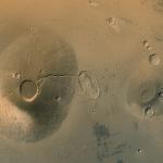 D'anciens volcans sur Mars