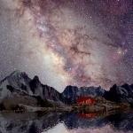 La Voie Lactée au-dessus du Mont Blanc