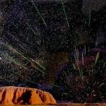Des Léonides au-dessus d'Ayers Rock