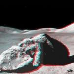 Apollo17: rocher en stéréo