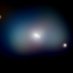 NGC1700: la galaxie elliptique et le disque en rotation
