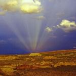 Des rayons anticrépusculaires au-dessus du Canyon Horseshoe
