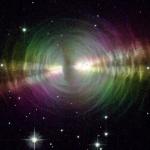 La Nébuleuse de l'Oeuf en lumière polarisée