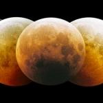 Montage d'une éclipse lunaire