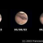 Mars à travers un petit télescope