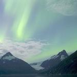 Une aurore sur les monts Chugach -