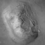 Gros plan du visage sur Mars