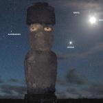 Planètes au-dessus de l'île de Pâques