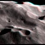 Les cratères de Phoebe en stéréo