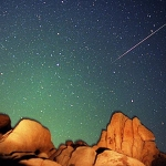 Une étoile filante des Perséides -