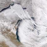 Neige des lacs sur Terre