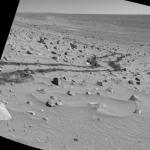 Coup d'oeil derrière soi sur Mars