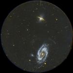 M81 et M82: le grand champ de GALEX