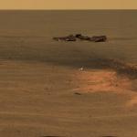 Le cratère d'impact du bouclier thermique sur Mars