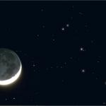 La Lune d'avril et les Pléiades