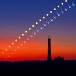 Le système solaire se lève au-dessus de Fire Island