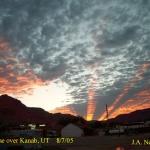 Rayons crépusculaires sur l'Utah