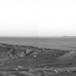 La vue de la Colline Husband sur Mars