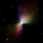 La Nébuleuse du Boomerang en lumière polarisée