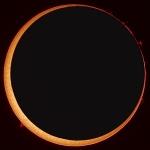 Eclipse solaire annulaire à haute résolution