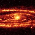 La galaxie d'Andromède en infrarouge