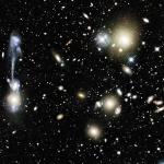 Collision galactique dans Abell1185