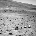 Une étrange roche bicolore sur Mars