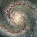 M 51: la galaxie du Tourbillon de poussière et d'étoiles