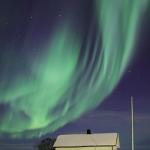 Aurores noires et vertes en Norvège