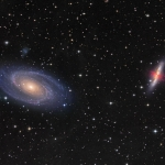 Guerre des galaxies : M 81 contre M82